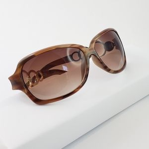 Retro Style Sunglasses Brown + Gold Details